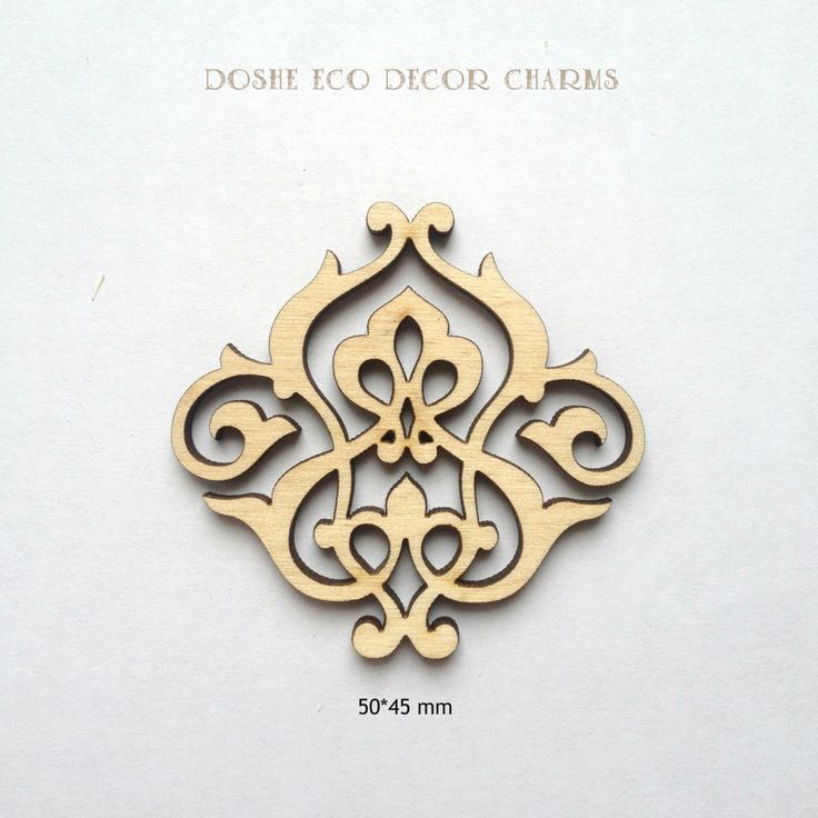 Cute Laser cut ornamental lace / Ornaments / Wood decor / Scrapbooking supplies / Decorating ideas / Wood embellishments / Wood charms / DIY by DosheEcoDecorCharms on Etsy