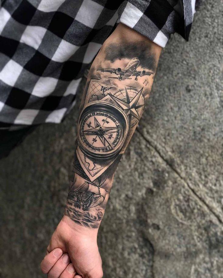 70 Compass Tattoos For Wanderlust Warriors
