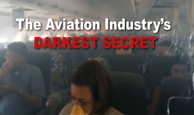 """he aviation industry hangs its hat on air travel being """"the safest way to travel."""" The truth, however, is that it has harbored a dark secret since its inception: it's poisoning its passengers and c…"""