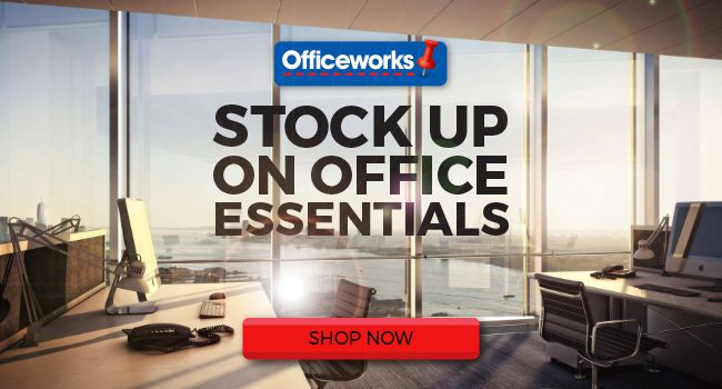 Officeworks is Australia's largest supplier of office and stationery products at the lowest prices everyday. Buy online or visit our stores now.