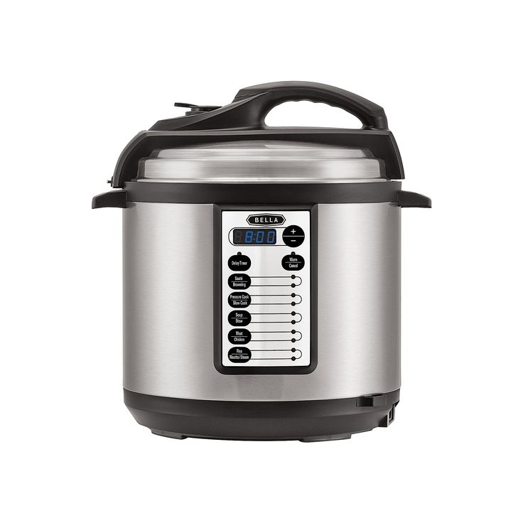 Bella 6 Qt. Pressure Cooker, Light Silver