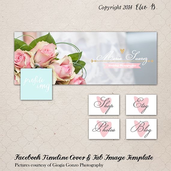 Photography Facebook Timeline Cover Template - Tab Images Template - Photoshop Template - M007 - instant download  SHOP AT: etsy.com/shop/eleob SEARCH WITH THE CODE   Pictures by Giorgia Gonzo Photography  Model Severine and Antonio