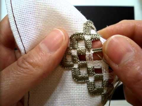 Hardanger Embroidery, Lesson 9, Woven Bars - YouTube