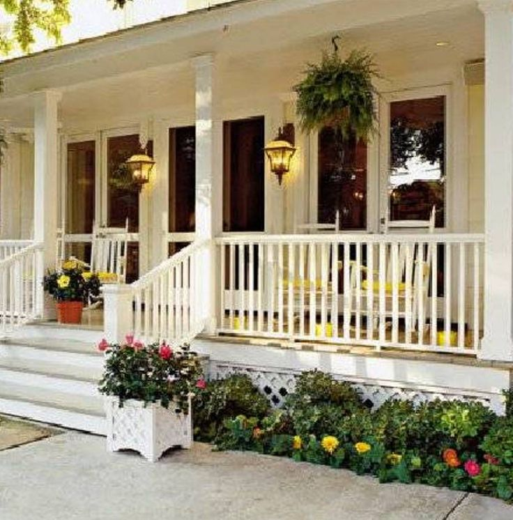 Landscaping And Outdoor Building , Home Front Porch Designs : Country Style House Porch Design