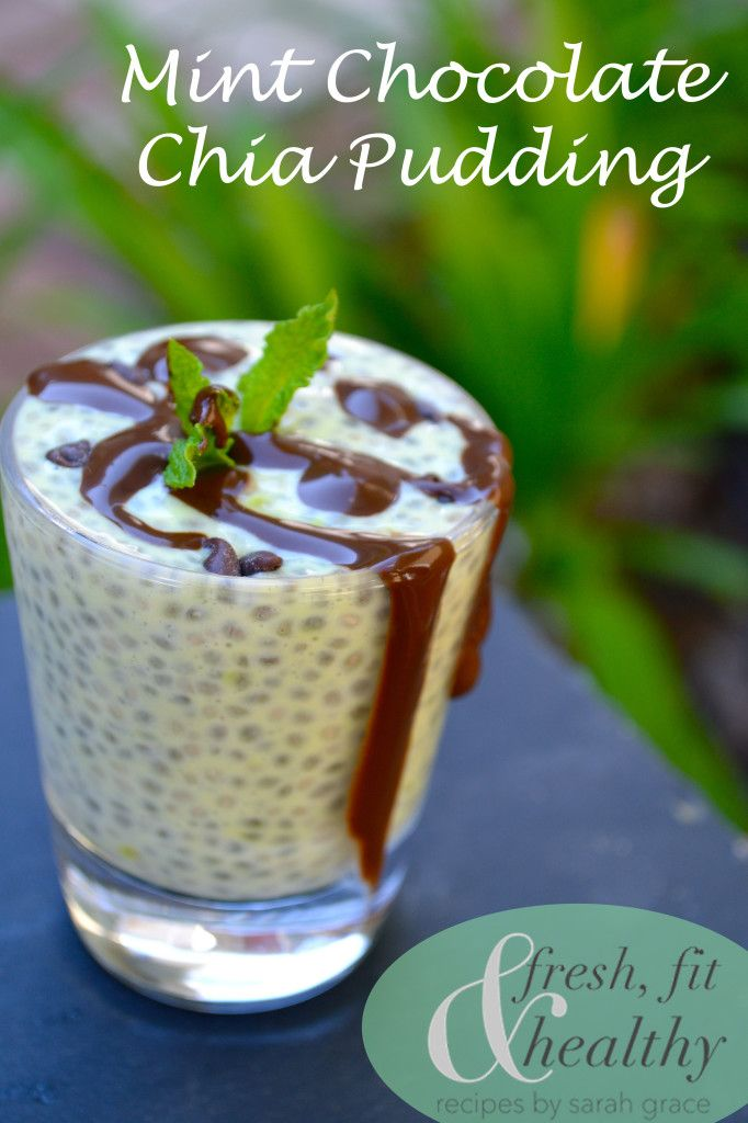 Fresh Fit N Healthy – Mint Chocolate Chip Chia Pudding: the perfect summer dessert..or breakfast since it is so healthy!