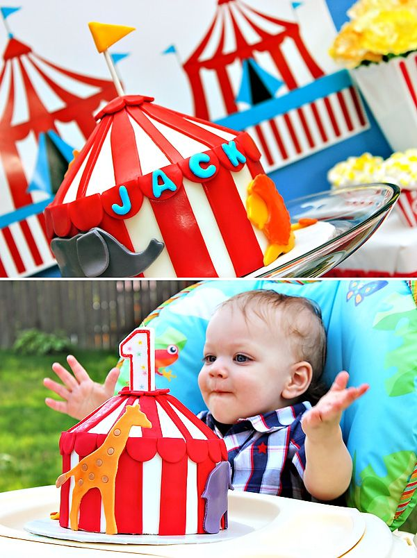 Creative  FUN Big Top Circus Party {First Birthday}