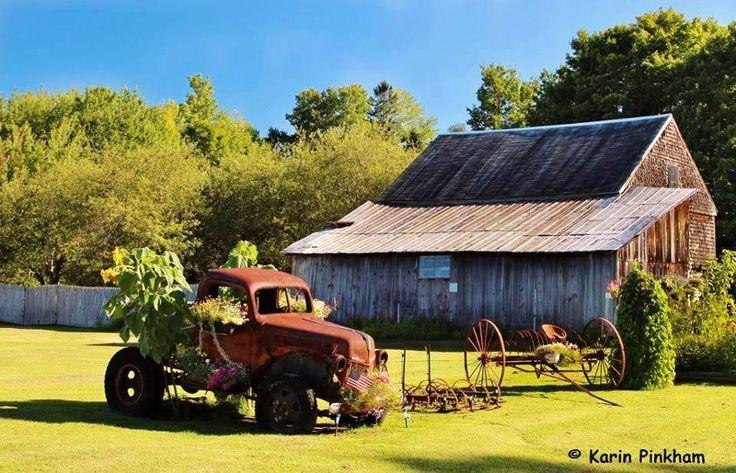 Perfect rural scene in Maine by Karin Hanscom Pinkham!