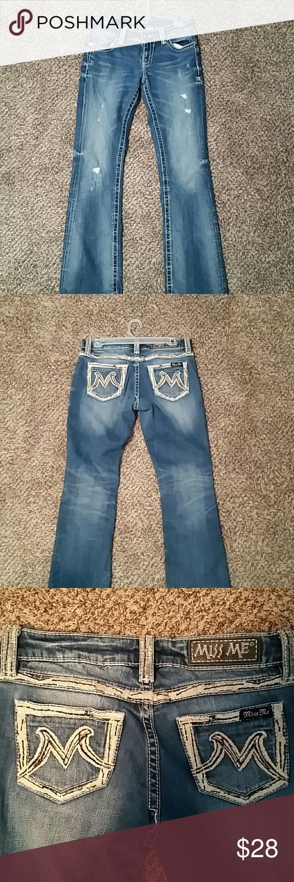 Miss Me jeans the m series Very good condition girl jeans from the Buckle Store Miss Me Jeans Boot Cut