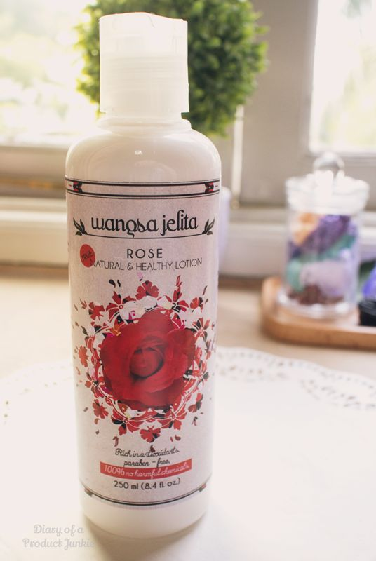 Body lotion from a local product named Wangsa Jelita.