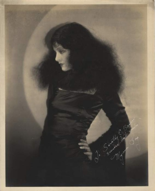A Beautiful and goth-like Myrna Loy in the 1920's ~ goth-tastic!