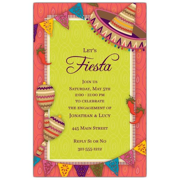 Mexican Fiesta Engagement Invitations