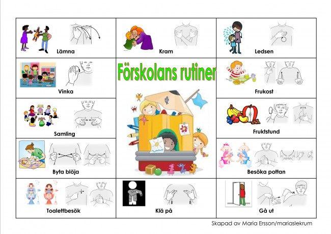 Pratkarta-Förskolans rutiner