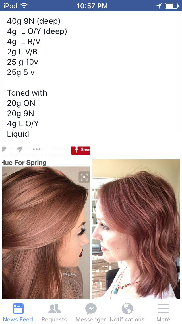 Rose gold aveda color More