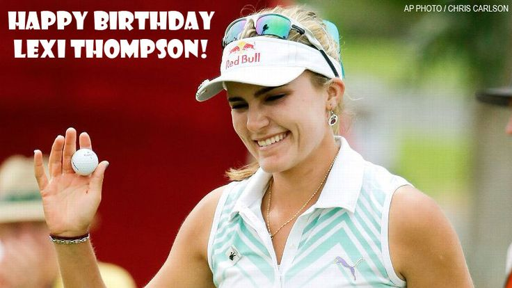 Happy 21st Birthday to LPGA star Lexi Thompson! Thompson first debuted on the golf scene at 12 years old at the 2007 US Women's Open, the youngest to qualify for the tournament, and turned pro at 15 in 2010. She won her first major at the 2014 Kraft Nabisco Championship. Lexi Thompson has 6 LPGA Tour career wins, along with a win on the Ladies European Tour, and is currently ranked No. 4 in the world. #LPGA #LPGATour #LexiThompson #Golf