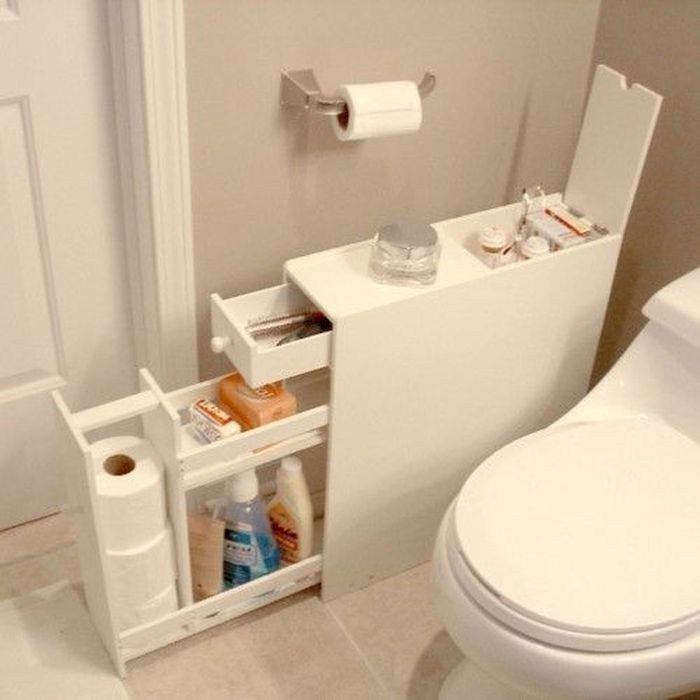 Implausible Space Saving Concepts Toilet Design For Small Room In 2020 Space Saving Bathroom Bathroom Floor Cabinets Small Space Bathroom
