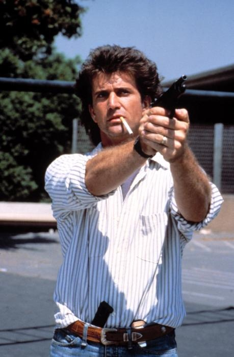 "Martin Riggs from 'Lethal Weapon', ""Do you really wanna jump!, Do you wanna!, Well then that's fine with me, Come on, Let's do it As*****!, Let's do it!""..."