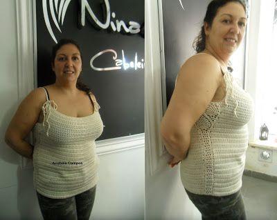 Rendas da Mãe: Blusa de crochet