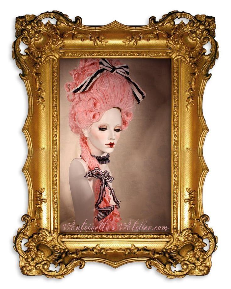 Gorgeous!! Rococo Pink Powdered Wig -La Reine- Pink Marie Antoinette Wig by Kathleen Marie. via Etsy.