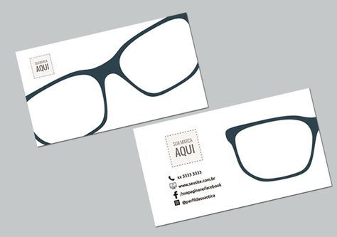cartão de visita para promover a marca da sua ótica   Optometry ... 3b2b66802b