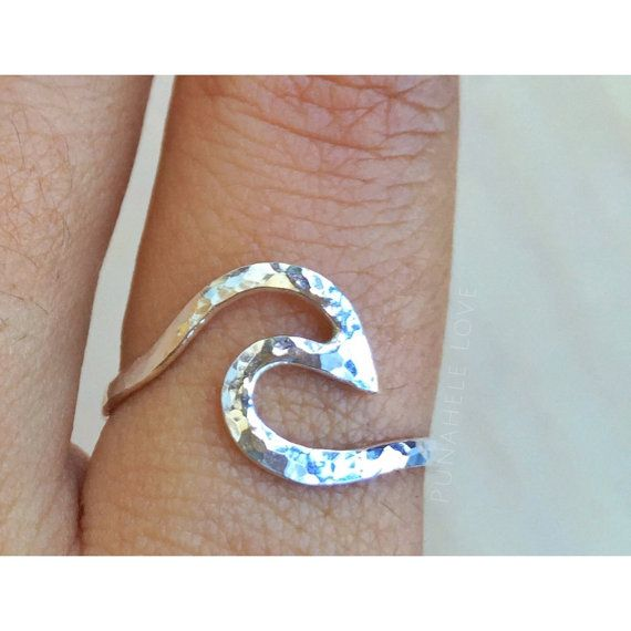 Wave Ring Nalu Ring silver wave ring gold wave by PunaheleLove