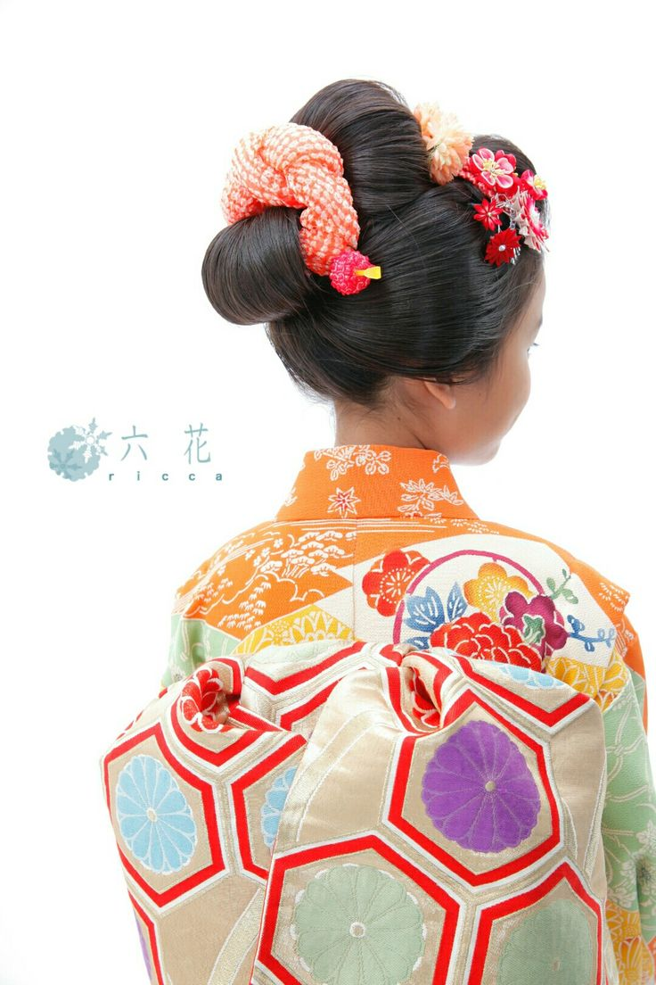 七五三 新日本髪 七歳女の子 レンタル着物・着付け・ヘアメイク・写真撮影など