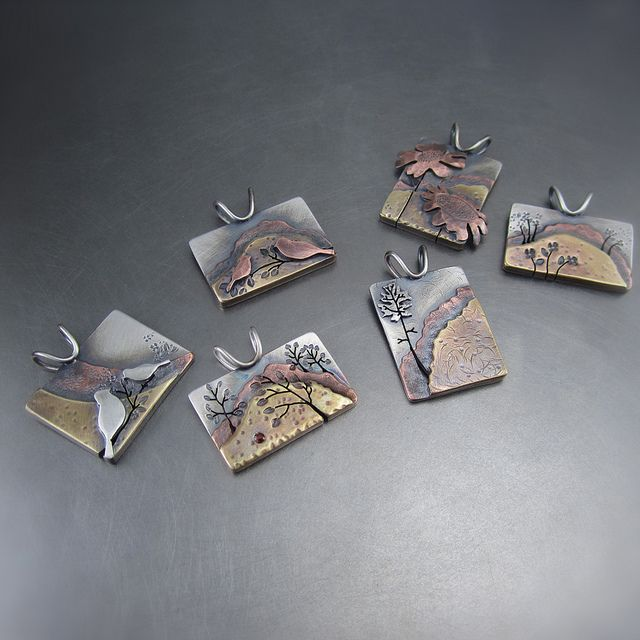 Mixed Metal Pendants by Beth Millner Jewelry!  www.bethmillner.com