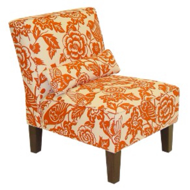 Floral Orange Accent Chair Orange Room Pinterest