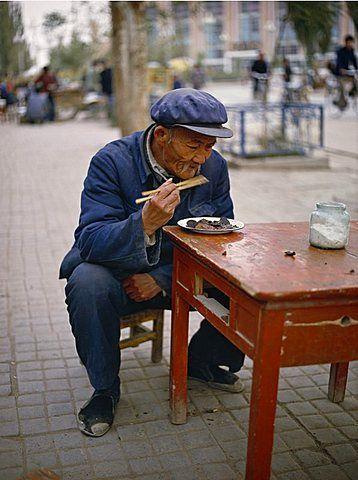 Street restaurant in Dunhuang. Gansu province, China mood