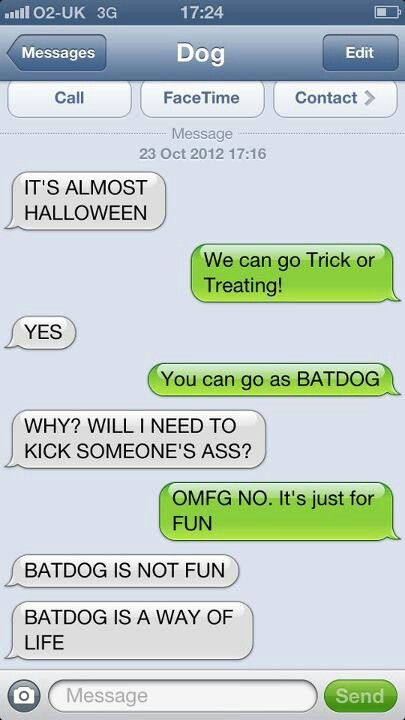 Text from Dog ~ Halloween