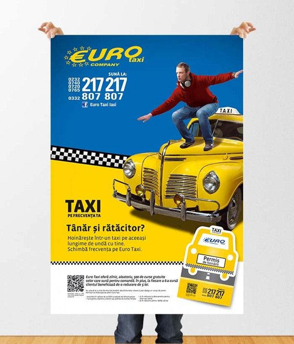 Taxi - advertising campaign by Elena Bostan, via Behance