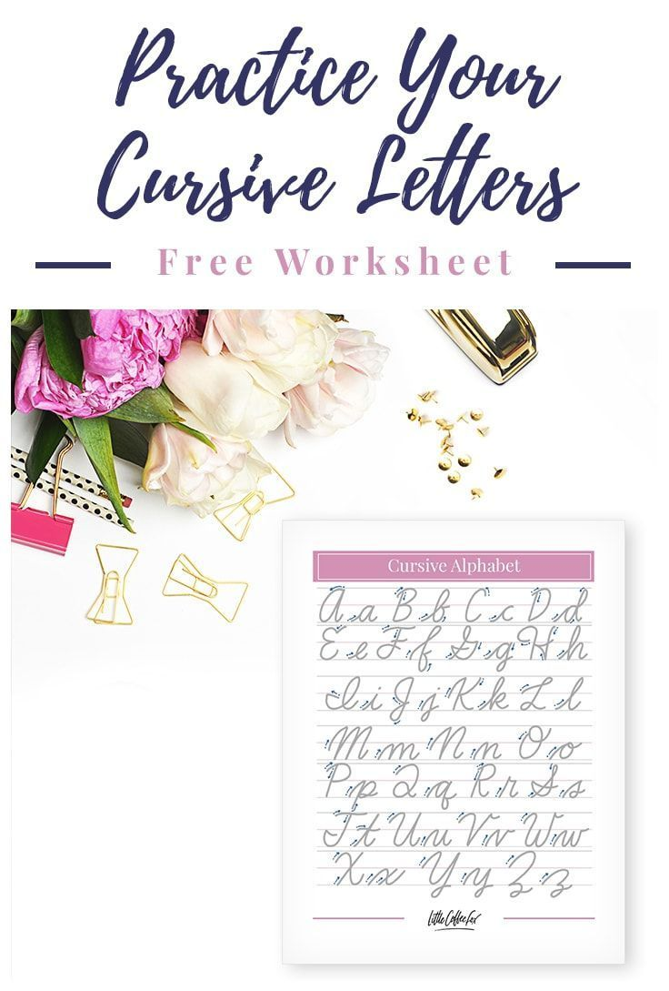 Cursive Letters Worksheet Brush Up On Your Cursive Cursive Letters Worksheet Cursive Letters Learn Hand Lettering [ 1089 x 736 Pixel ]