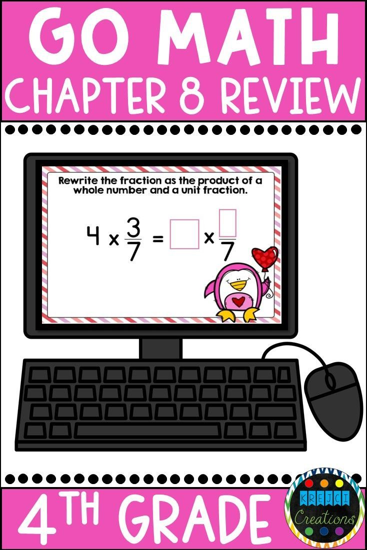 Go Math Chapter 8 Review Boom Cards: Multiply Fractions and