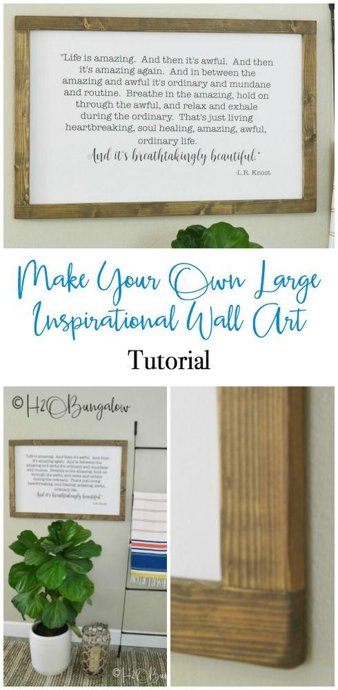 DIY Large Modern Inspirational Wall Art | E | Pinterest | Easy wall ...