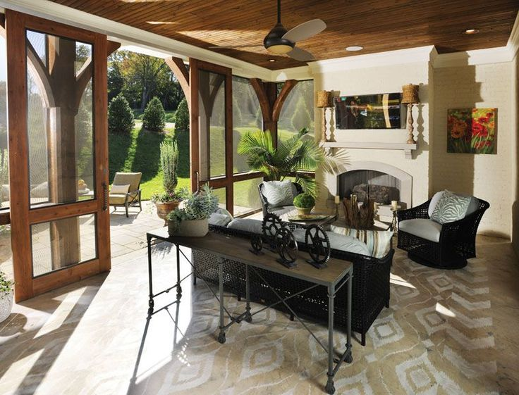 Outdoor Living Room Patio with Sliding Screen DoorsIdeas, The Doors, Screens Porches, Doors Design, Outdoor Room, Barns Doors, Screens Doors, Screen Doors, Sliding Doors
