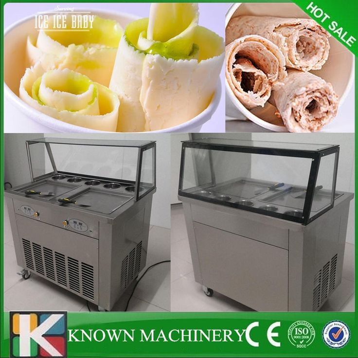 1150.50$  Watch here - http://alioqu.shopchina.info/1/go.php?t=32721656413 - Double Pans Fried Ice Cream Machine 2 Square Pans Ice Cream Roll Making Machine with 5 fruit barrels  #buychinaproducts