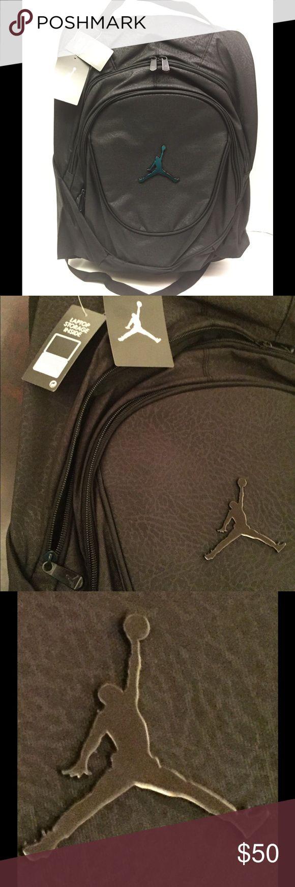 Nike Jordan Jumpman Logo Black Backpack Book Bag N…