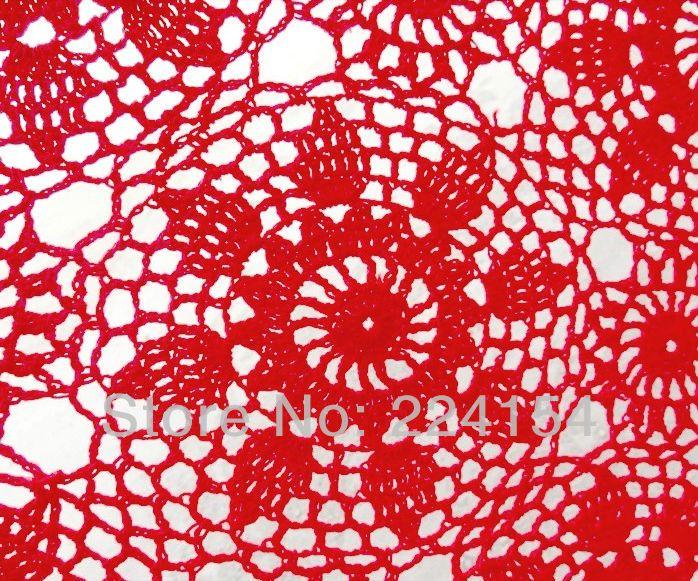 Aliexpress.com : Buy 50x65 cm Rectangular size crochet red tablecloth for wedding decoration Free Shipping!!! from Reliable rectangular tablecloth suppliers on Handmade Shop $13.60