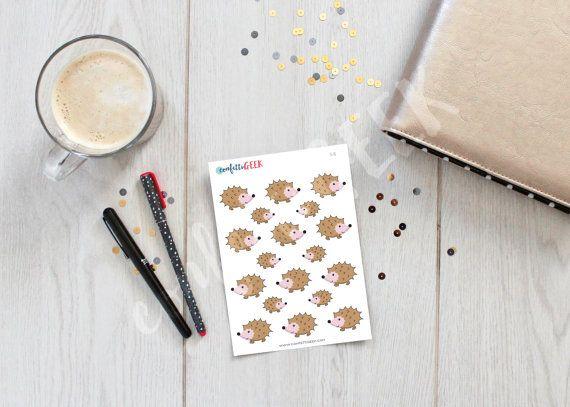 cute hedgehog stickers to decorate your Carpe diem by ConfettiGeek