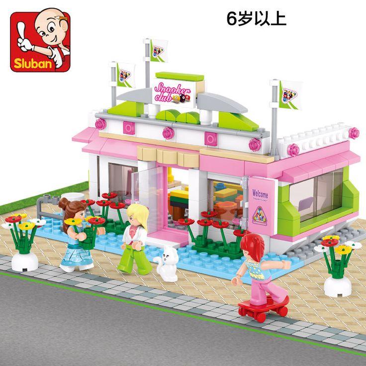 Строительный блок , поддерживающие лего новый город бар у бассейна HD 3D строительного кирпича образовательные хобби игрушки для детей