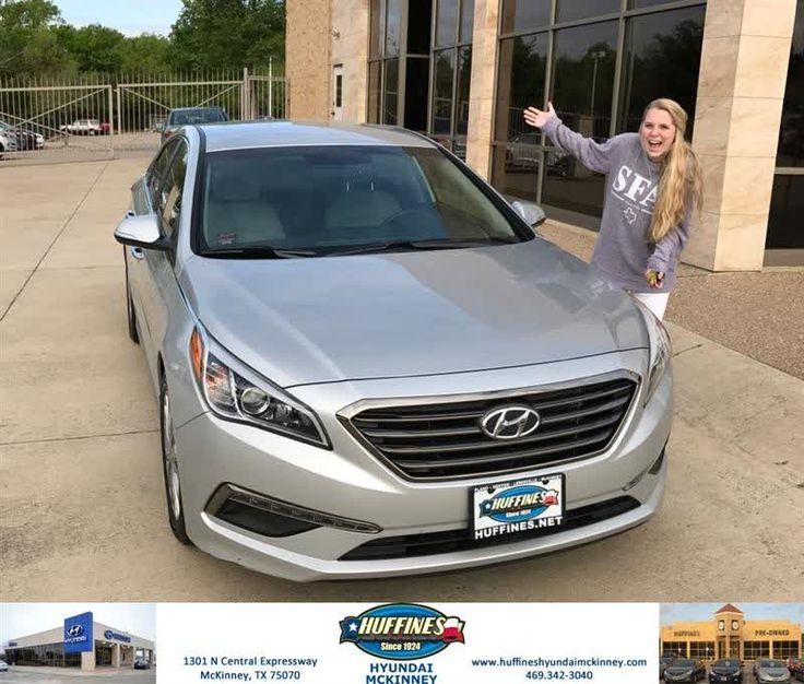 Congratulations Taylor on your #Hyundai #Sonata from Tony McCloud at Huffines Hyundai McKinney!  https://deliverymaxx.com/DealerReviews.aspx?DealerCode=PEGO  #HuffinesHyundaiMcKinney