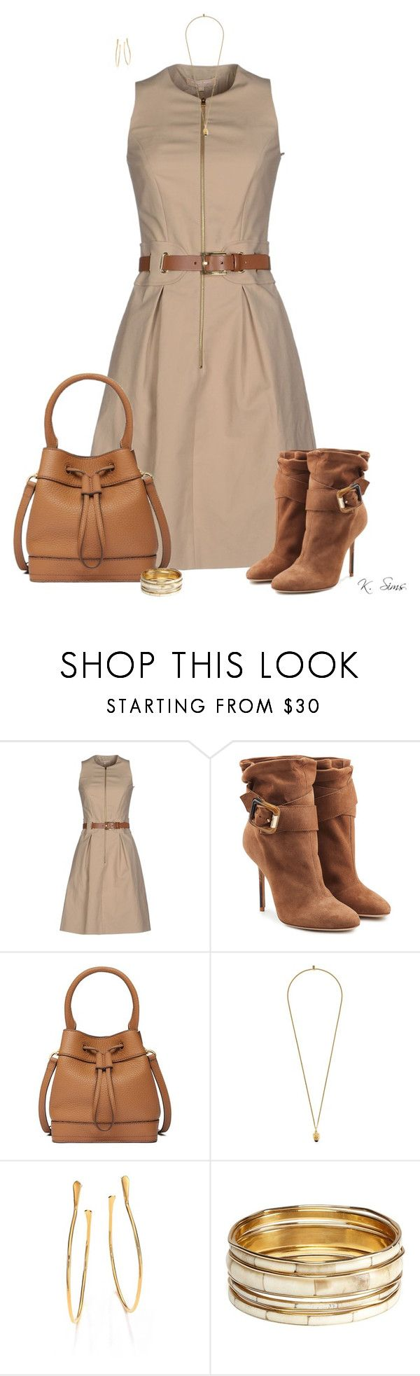 """Saturday"" by ksims-1 ❤ liked on Polyvore featuring Michael Kors, Burberry, Tory Burch, Ela Stone, Chloé and Aqua"