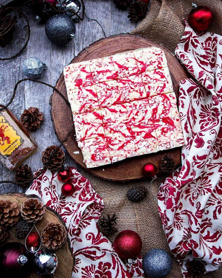 Fireball Cinnamon Whiskey Christmas Fudge with White Ghirardelli Chocolate Crushed Candy Cane and Red Peppermint Swirl.  Merry Christmas to all and to all a good night!  . Blog: http://ift.tt/1vCV6pv . #longlivetheadventure #sunday #weekend #vacation #destination #roadtrip #holiday #christmas #santa #winter #recipe #dessert #dessertfordinner #sweettooth #instagood #foodstagram #foodgasm #food #foodporn #vino #wine #winery #drinks #whiskey #fireball #cerveza #beer #brewery #datenight…