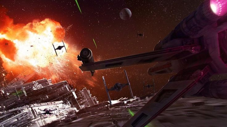 Star Wars BattleFront rogue one x-wing VR, Sci-Fi space/ship simulator game.