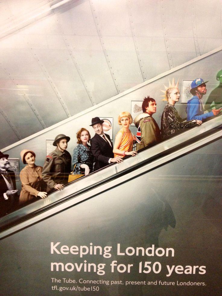 London Underground Poster celebrating 150 years of the Underground!