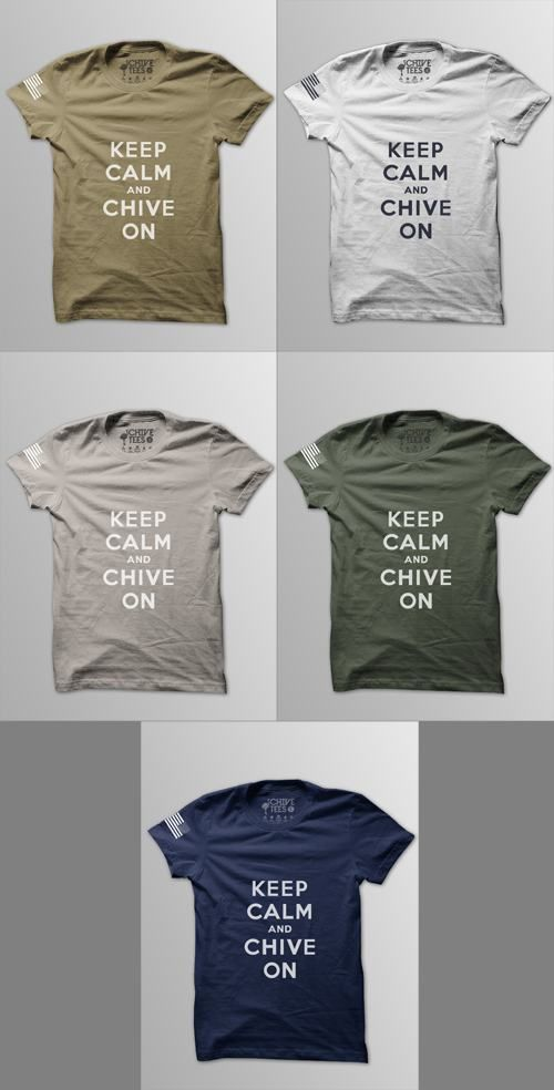 Just ordered my military chive shirts <3