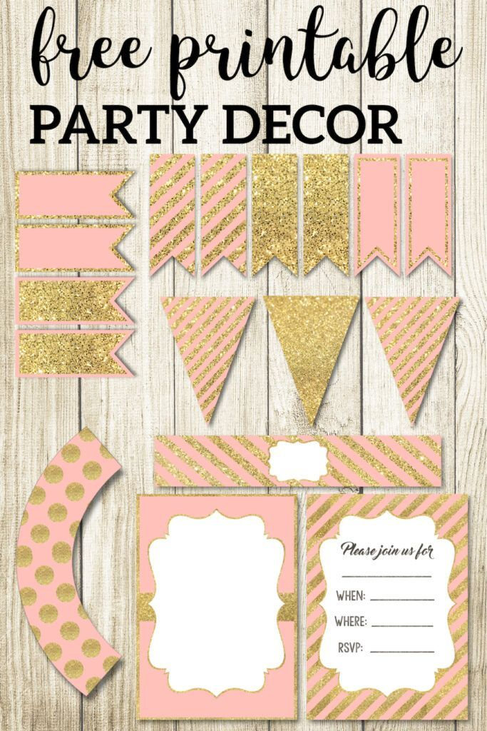 Pink And Gold Free Printables Diy For