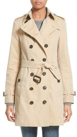 Women's Burberry London 'Sandringham' Slim Trench Coat