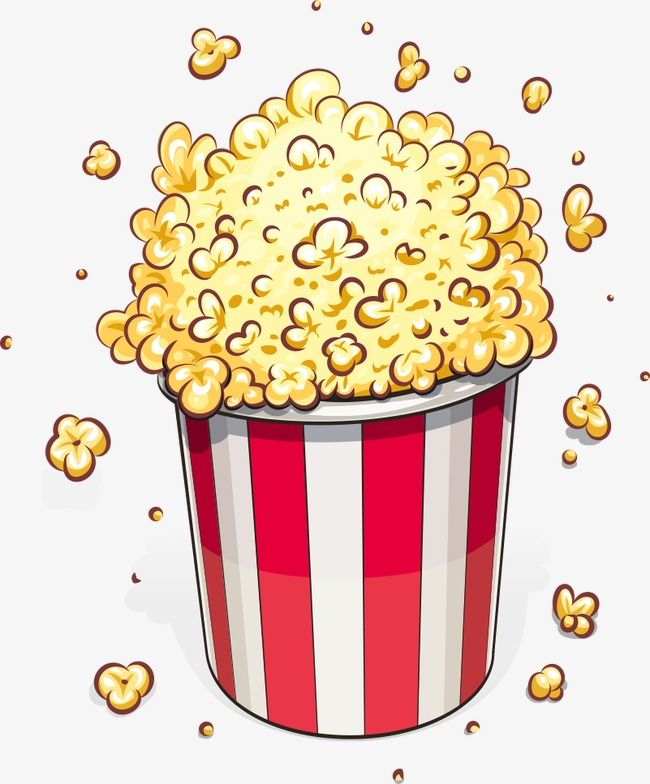 Vector Popcorn Popcorn Cartoon Popcorn Food Png Transparent Clipart Image And Psd File For Free Download Mini Canvas Art Popcorn Theme Pop Stickers