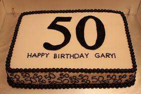 The Buttercream Bakery: 50th Birthday Sheet Cake