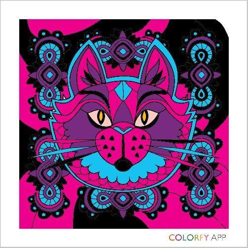 #colorfy #cat #color me beautiful